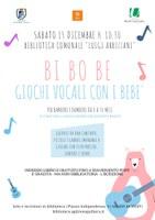 15/12/2018 San Giorgio di Piano - Bi Bo Be. Giochi vocali con i bebè. laboratorio musicale per bambine e bambini da 0 a 36 mesi