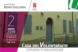 02/03/2019 Castello d'Argile - Inaugurazione della Casa del Volontariato