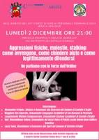 02/12/2019 Castello d'Argile - Aggressioni fisiche, molestie, stalking. Serata speciale con le Forze dell'Ordine