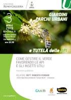 03/04/2019 Bentivoglio - Giardini, parchi urbani e tutela delle api. Serata pubblica