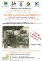 05/03/2019 Argelato - Esodo (La memoria negata e L'Italia dimenticata). Film documentario. Giorno del Ricordo