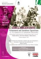 05/03/2019 San Pietro in Casale - Tstament ed Sandron Spaviron. Un appuntamento di Viva il dialatt 2019