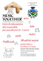 09/01/2019 San Pietro in Casale - Music together.  Corsi di educazione musicale pre-scolare per famiglie con bimbi 0-5 anni