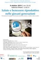 09/10/2019 Budrio - Salute e benessere riproduttivo nelle giovani generazioni. Serata informativa