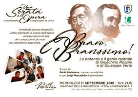 11/09/2019 San Giorgio di Piano - Bravo bravissimo! La potenza e il genio teatrale di Gioacchino Rossini e di Giuseppe Verdi