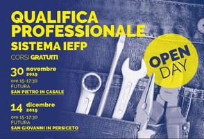 """14/12/2019 San Giovanni in Persiceto - """"Operatore Meccanico"""" e """"Operatore Sistemi Elettrico-Elettronici"""". Presentazione dei percorsi IeFP e laboratori"""