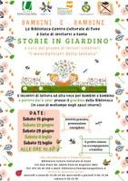 15-22-29/06 e 06-13/07/2019 Argelato - Storie in giardino. Incontri di lettura ad alta voce per bambini e bambine
