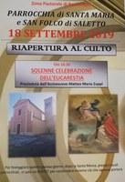 18/09/2019 Bentivoglio - Riapertura Chiesa di Saletto