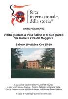 19/10/2019 Castel Maggiore -   Antiche dimore. Visita guidata a Villa Salina e al suo parco. Un evento della Festa internazionale della Storia
