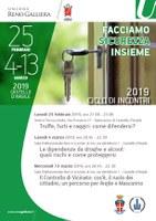 20/02 e 4-13/03/2019 Castello d'Argile - Facciamo sicurezza insieme 2019. Torna il ciclo di incontri sulla sicurezza, rivolto a cittadini, famiglie e operatori economico-sociali