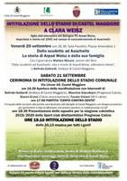 20-21/09/2019 Castel Maggiore - Intitolazione dello stadio di Castel Maggiore a Clara Weisz