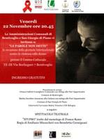 """22/11/2019 Bentivoglio - """"Le parole non dette"""" e """"Stupro"""". Giornata internazionale per l'eliminazione della violenza contro le donne"""