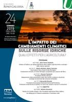 24/01/2019 Galliera - L'impatto dei cambiamenti climatici sulle risorse idriche - Quali effetti per l'agricoltura?