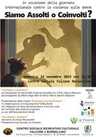 """24/11/2019 San Giorgio di Piano -  """"Siamo assolti o coinvolti"""" e """"Ringrazia una femminista"""". Giornata internazionale per l'eliminazione della violenza contro le donne"""