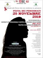 25/11/2019 Argelato - Festa dei Pensionati. Giornata internazionale per l'eliminazione della violenza contro le donne