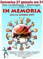 27/01/2019 Bentivoglio - In memoria (ma la guerra no!). In occasione della Giornata della Memoria
