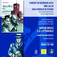 28/01/2019San Giorgio di Piano-Arpad Weisz e il Littoriale. Giornata della Memoria. Incontro con l'autore Matteo Matteucci
