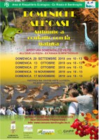 29/09-17/11/2019 Bentivoglio - Domeniche all'oasi. Aperture domenicali dell'Oasi La Rizza