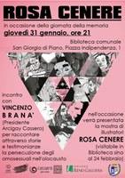 31/01/2019  San Giorgio di Piano - Il dramma dell'Omocausto e Rosa Cenere. Giorno della memoria. La persecuzione degli omosessuali da parte del Nazismo