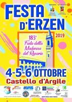 4-6/10/2019 Castello d'Argile - Festa d'Erzen. 183a Festa della Madonna del Rosario