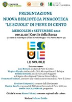 02/09/2020 Pieve di Cento - Le scuole. Presentazione della nuova biblioteca-pinacoteca