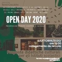 05/10/2020 ONLINE - Open day di presentazione proposte didattiche e culturali