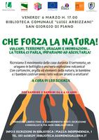 06/03/2020 San Giorgio di Piano - Che forza la natura! Per bambine e bambini da 6 a 10 anni - RINVIATO