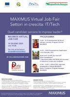 10/06/2020 ONLINE - MAXIMUS Virtual Job Fair. Settori in crescita: IT/Tech