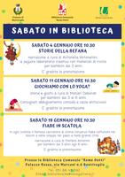 11 e 18/01/2020 Bentivoglio - Sabato in Biblioteca
