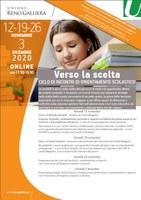 12-19-26/11 e 03/12/2020 ONLINE - Verso la scelta. Ciclo di incontri di orientamento scolastico