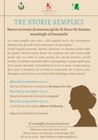 15-22-29/09/2020 Bentivoglio - Tre storie semplici. Monologhi al femminile di Oscar De Summa