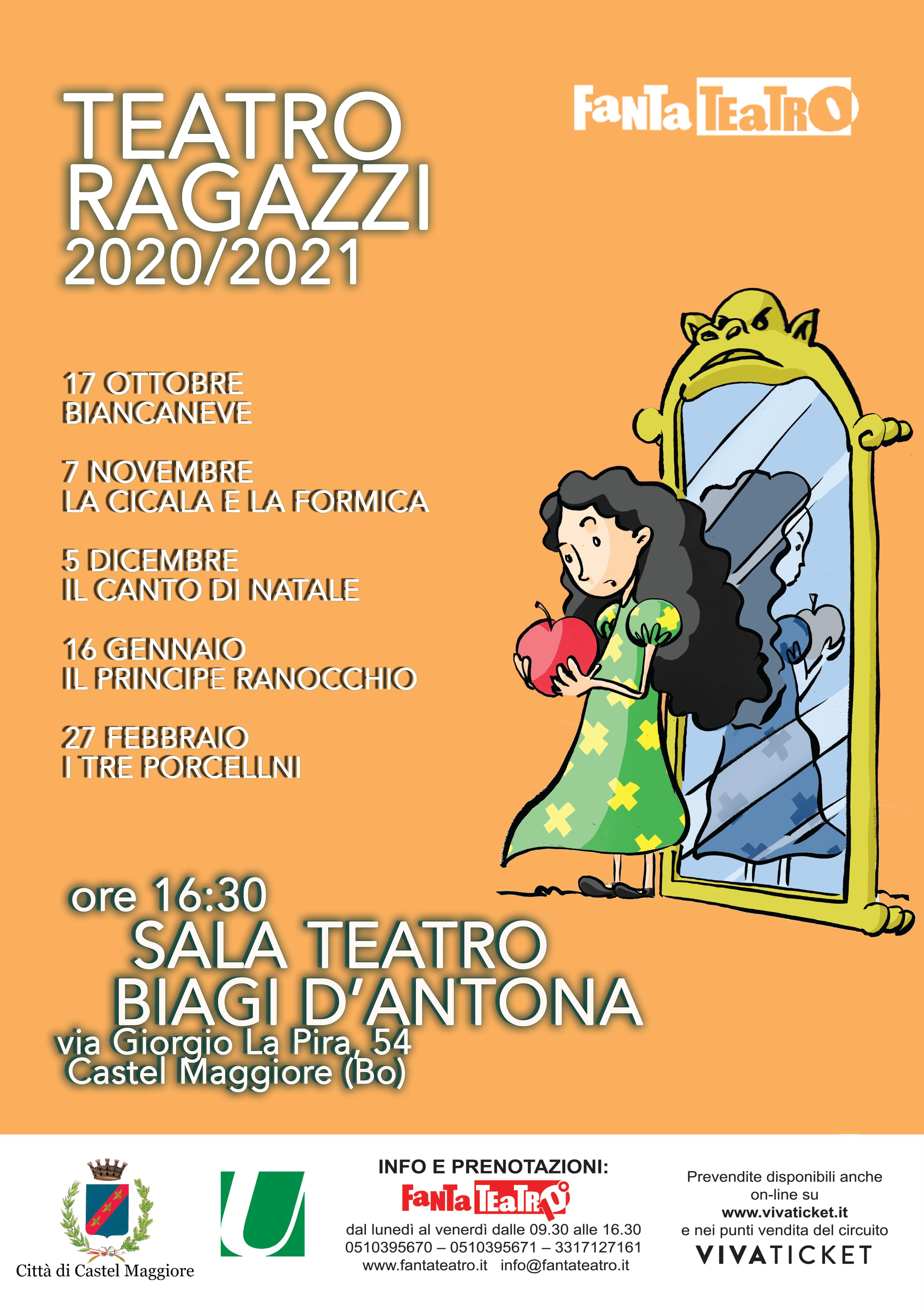 Calendario Biancaneve 2021 17/10/2020, 07/11/2020, 16/01/2021, 27/02/2021 Castel Maggiore