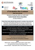 19/01/2020 San Giorgio di Piano - E' la musica che ci unisce! Festa interculturale - ATTENZIONE: EVENTO RIMANDATO