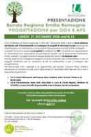 21/12/2020 ONLINE- Progettazione per ODV e APS. Incontro di presentazione del bando regionale