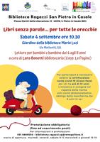 04/09/2021 San Pietro in Casale - Libri senza parole... per tutte le orecchie. Letture per bambini e bambine dai 4 agli 8 anni