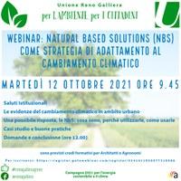 12/10/2021 ONLINE - Natural based solutions (NBS) come strategia di adattamento al cambiamento climatico. Webinar dello Sportello energia