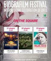 21-22-23/06/2021 Castel Maggiore - ON THE SQUARE. Il Biografilm Festival @CASTELMAGGIORE
