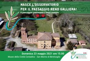 23/05/2021 Bentivoglio - Nasce l'Osservatorio locale per il paesaggio Reno Galliera