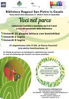 25/06-02-09/07/2021 San Pietro in Casale - Voci nel parco. Letture per bambini e bambine dai 3 ai 7 anni