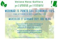 27/01/2021 ONLINE - Ecobonus 110% . Webinar dello Sportello energia