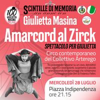 """28/07/2021 San Giorgio di Piano - Amarcord al Zirck. Spettacolo di circo contemporaneo per """"Scintille di memoria – Un anno con Giulietta Masina"""""""
