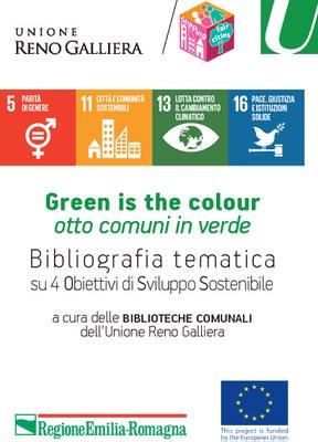 """Copertina della brochure """"Bibliografia tematica su 4 Obiettivi di Sviluppo Sostenibile"""""""