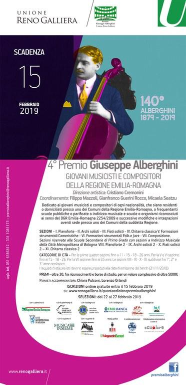 La locandina della IV edizione del Premio Alberghini
