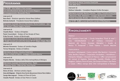 Decennale Unione Reno Galliera - Programma