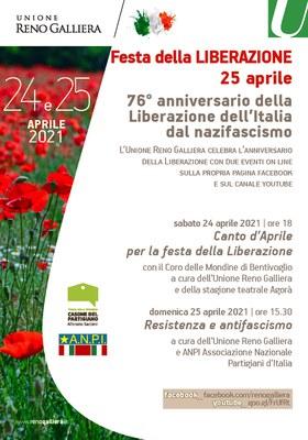 Manifesto Festa della Liberazione 2021