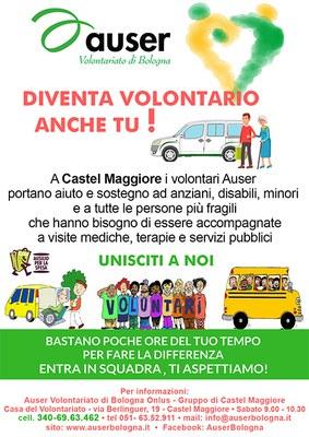 locandina volontari AUSER a Castel Maggiore