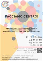 Facciamo centro! Percorso partecipativo del Centro per le Famiglie Pianura Est si conclude il 25 marzo!