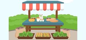 Posteggi nei mercati comunali per espositori e produttori agricoli