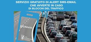 Blocchi del traffico: al via il servizio gratuito che avverte i cittadini con una mail o un sms